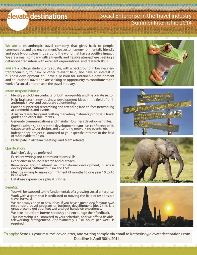 Elevate Destinations_Summer Intern 2014-1
