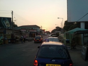 sunset in Accra