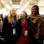 [Left to right] Hannah Lewis '13, Cynthia Jaggi '00, and Oladoyin Oladapo '14 at SOCAP14