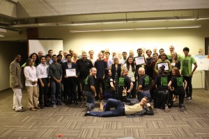 Participants, coaches, and mentors at Startup Weekend Hartford, September 2014