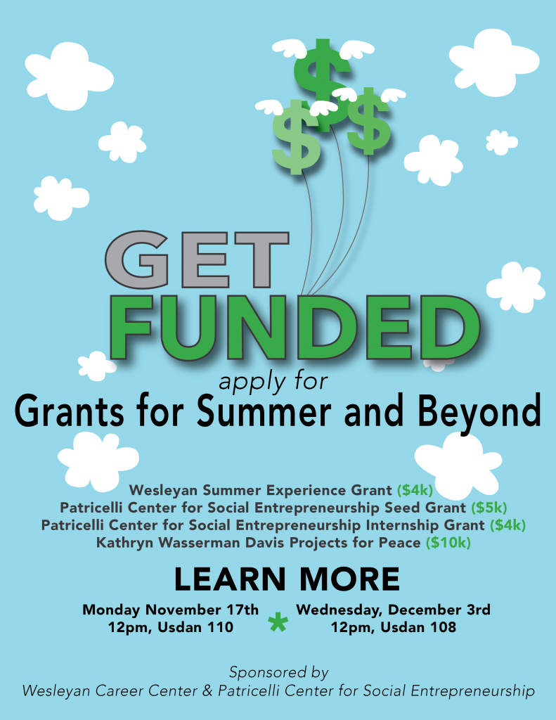 Summer Internship Grants Poster
