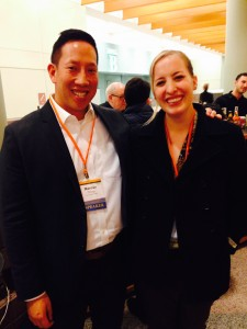 Hannah with PCSE Advisory Board member, Marcus Chung '98. Marcus is Vice President for Social Responsibility & Vendor Compliance at The Children's Place and a former board member for Net Impact.