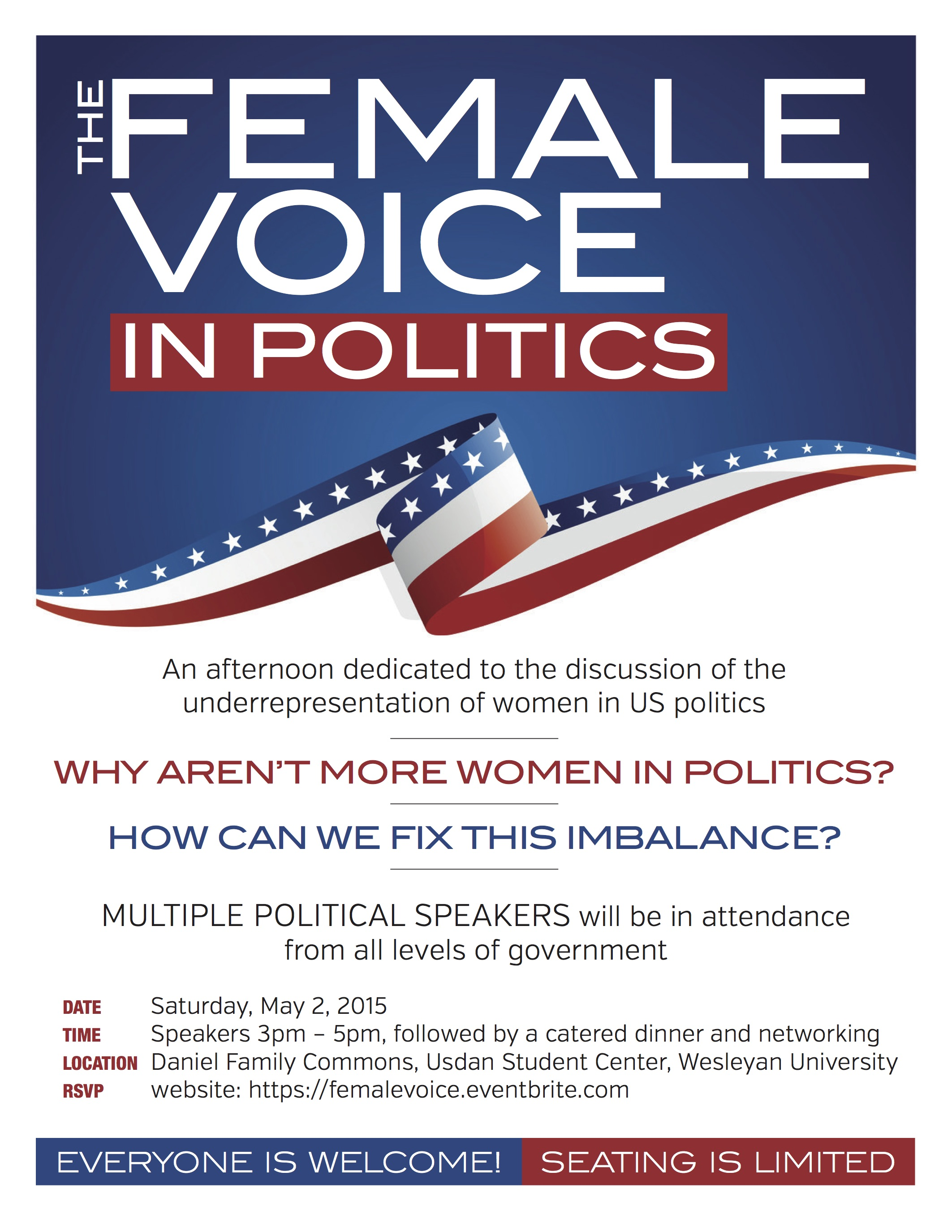 Female Voice in Politics Flyer