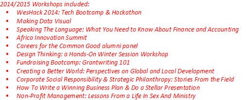 2014-2015 Workshop Highlights