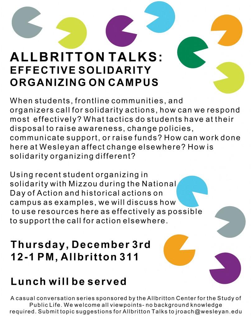 Allbritton Talks Oranizin