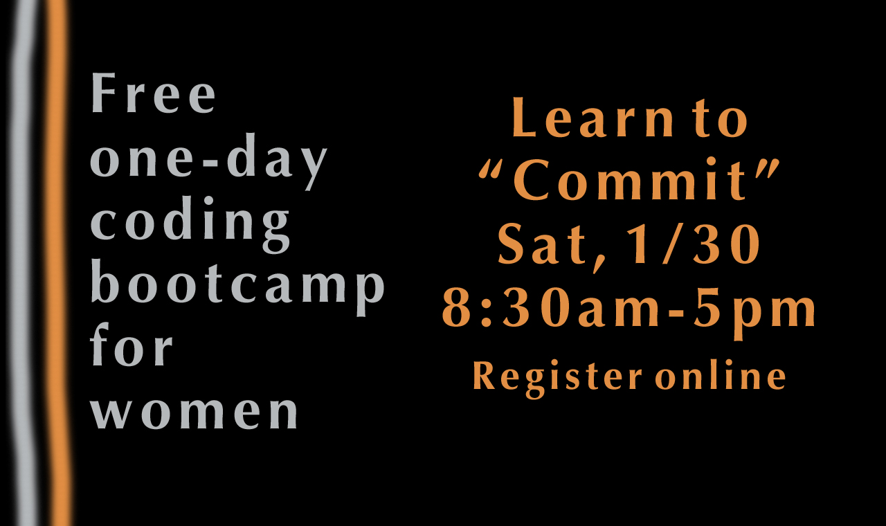 Learn to Commit: a one-day coding bootcamp for women