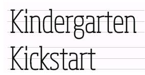 Kindergarten Kickstart logo