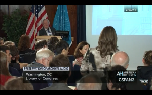 Screen capture by the author from C-SPAN footage of keynote talk. www.c-span.org