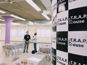 TRAP House CFO Gabe Weinreb '18 and volunteer Michael Smith '18 on Startup Day