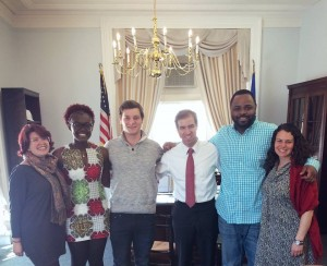 TRAP House team and friends with Hartford Mayor Luke Bronin