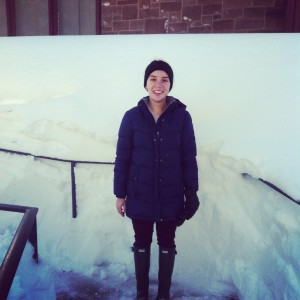 I'm from sunny Tampa, Florida. My freshman year at Wesleyan was the first time I saw snow!
