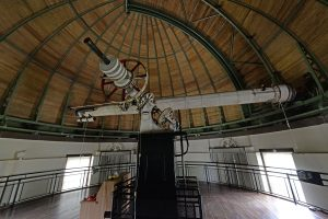 The nearly century-old 20-inch Van Vleck Refractor, which lives on Foss Hill in its iconic dome.