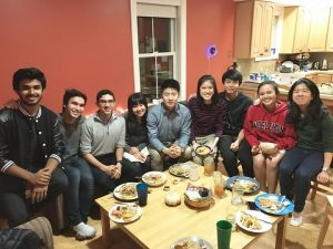 Some members of the Kai team at a team dinner. Missing Alvin, Duong, Vivian, Josh, and Marc.