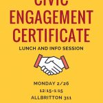 Civic Engagement Certificate Lunch and Info Session