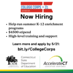 CT Summer College Corps Now Hiring