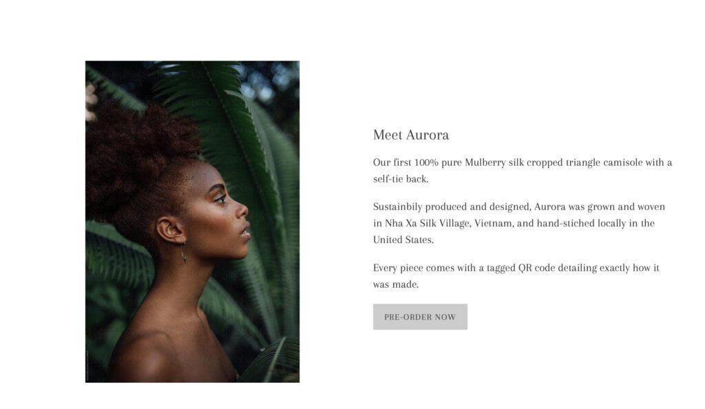 Screenshot of the Infinitely website